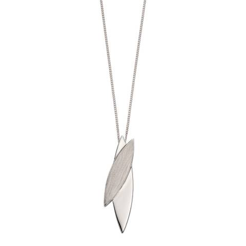 Fiorelli Silver Brushed Crossover Pendant Necklace