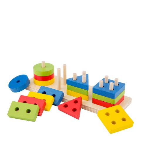 New Classic Toys Geometric Stacking Puzzle