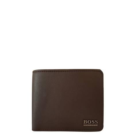 BOSS Dark  Brown Allon Bifold Wallet