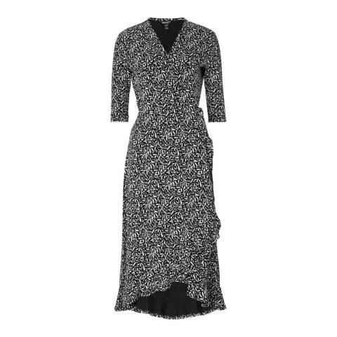 Baukjen  Black & White Neesha Wrap Dress