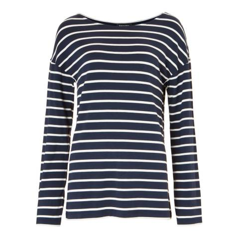 Baukjen Navy & Soft White Livia Relaxed Top