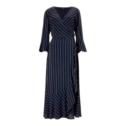 Baukjen Blue & White Stripe Harriet Wrap Dress