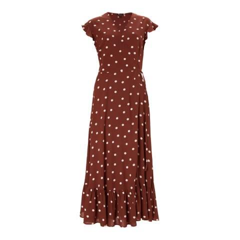 Baukjen Cinnamon Polka Genevieve Wrap Dress