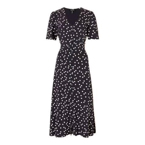 Baukjen Navy Polka Print Sapphire Dress