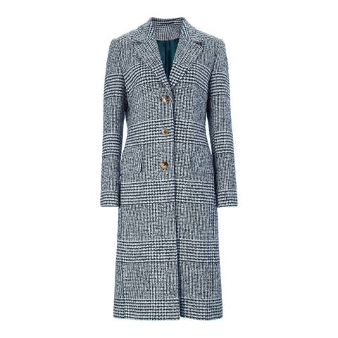 Baukjen Navy & Soft White Check Myla Coat