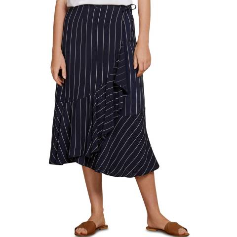 Baukjen Blue & Slim White Stripe Harriet Skirt