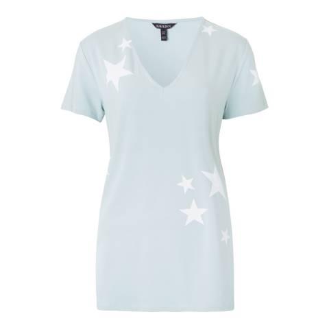 Baukjen Ice Blue With White Stars Leigh Top