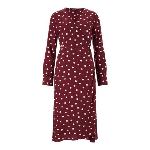 Baukjen Burgundy Shadow Dara Wrap Dress