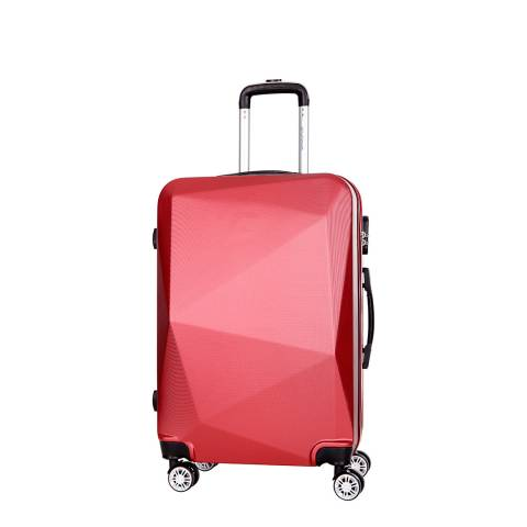 Platinium Burgundy Southport 8 Wheel Suitcase 56cm