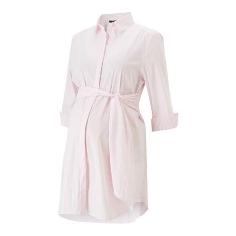 Isabella Oliver Blush / White Stripe Dora Maternity Shirt