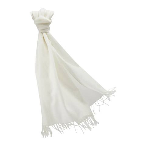 Pure Collection Medium Soft White Pashmina