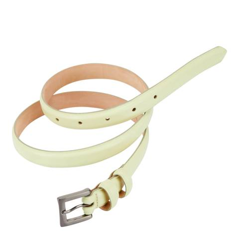Pure Collection Pale Lime Leather Belt