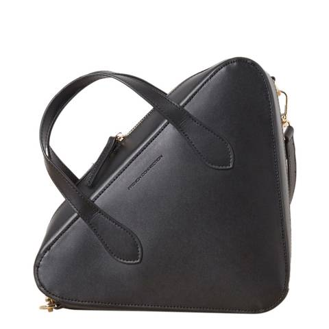 French Connection Black Recycled Traingle Crossbody