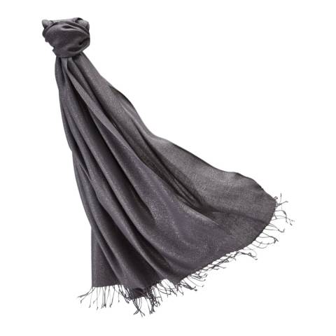 Pure Collection Charcoal Sparkle Pashmina Shawl