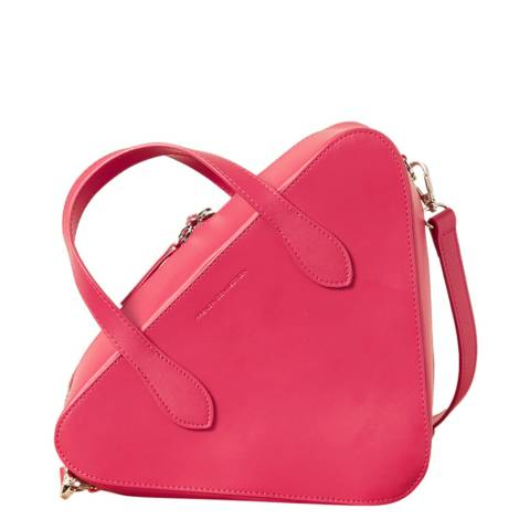 French Connection Fuchsia Recycled Traingle Crossbody