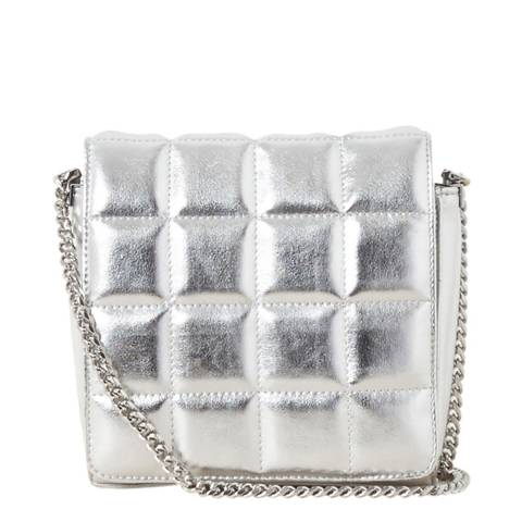 French Connection Silver Rae Mini Quilted Crossbody