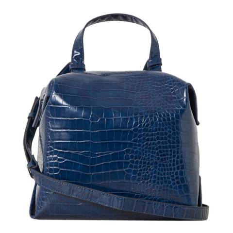 French Connection Deep Blue Luiza Cube Holdall Bag