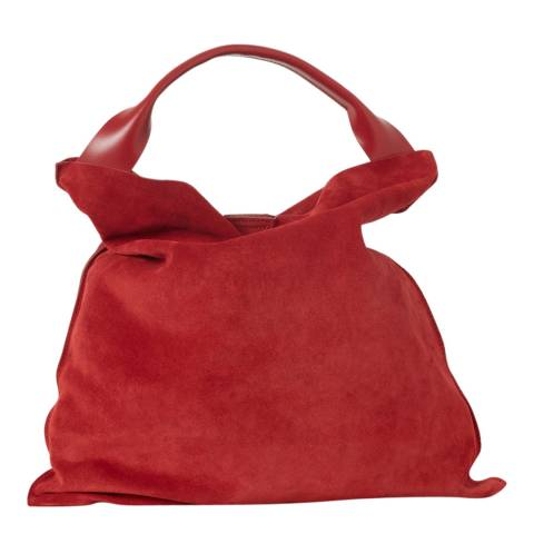 French Connection Red Gia Suede Bag