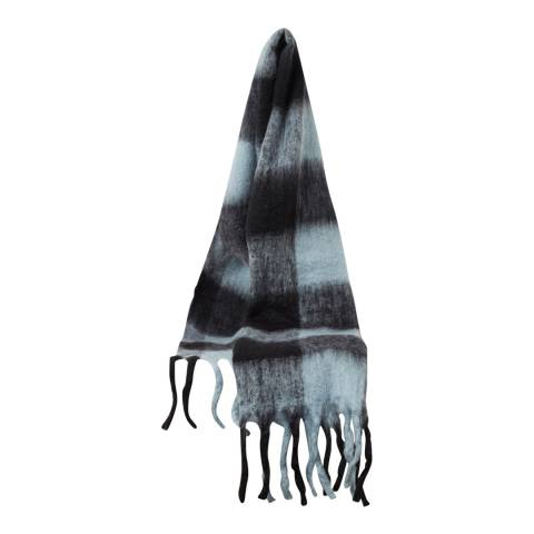 French Connection Soft Blue Check Scarf