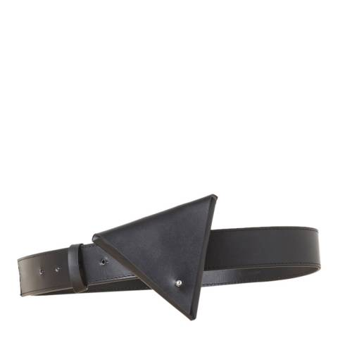 French Connection Black Uli Leather Purse Belt
