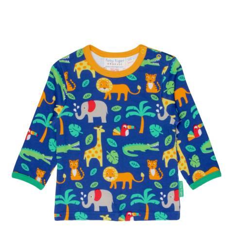 Toby Tiger Multicoloured Jungle Print T-Shirt