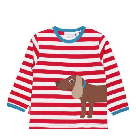Toby Tiger Red Sausage Dog Applique T-Shirt