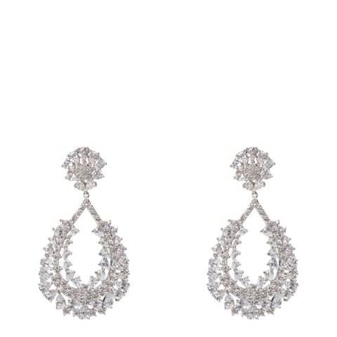 Amrita Singh Silver Statement Earrings