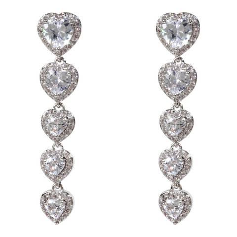 Amrita Singh Silver Heart Linear Earrings