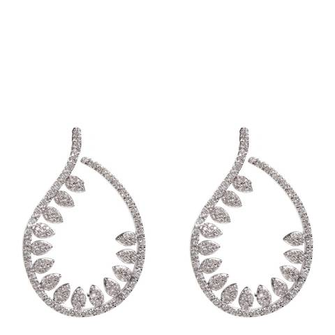 Amrita Singh Silver Leaf Earrings