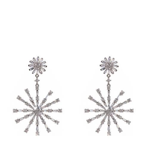 Amrita Singh Silver Snowflake Earrings