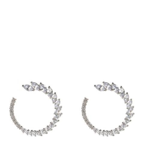 Amrita Singh Silver Open Wreath Earrings