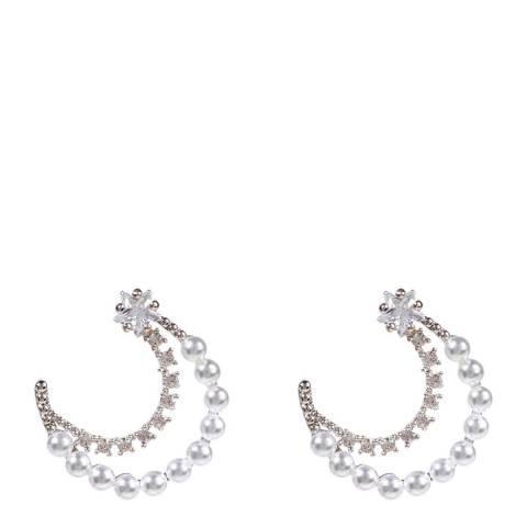 Amrita Singh Silver Moon and Star Earrings
