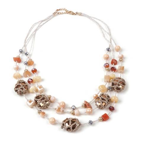 Amrita Singh Multi Bead And Stone Necklace