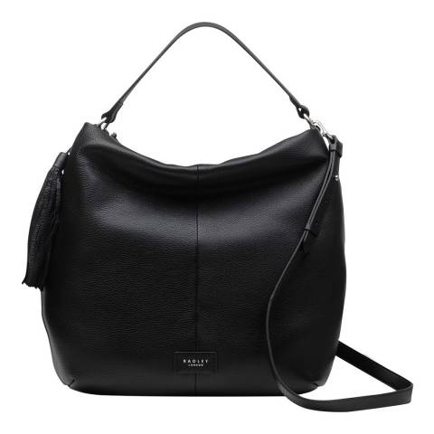 Radley Black Artisan Road Large Ziptop Hobo