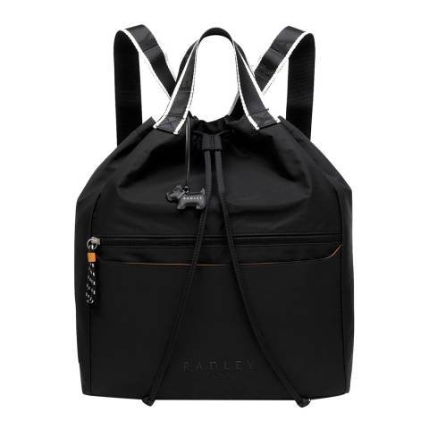 Radley Black Crofters Way Large Drawstring Backpack