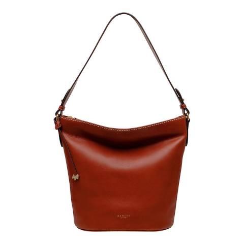 Radley Rust Dove Road Large Ziptop Bucket Bag
