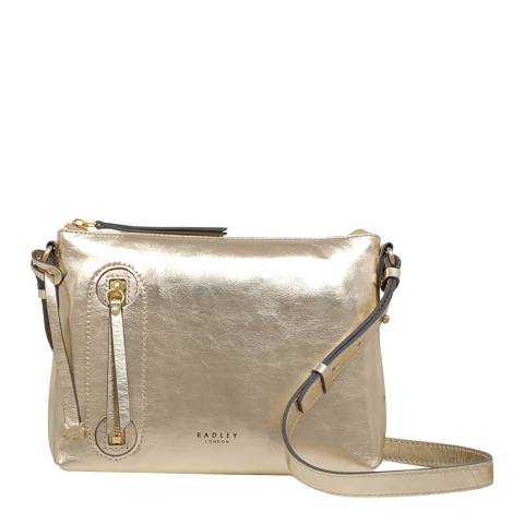 Radley Gold Taylors Court Medium Ziptop Crossbody