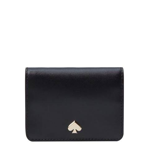 Kate Spade Black Slim Bifold Card Holder