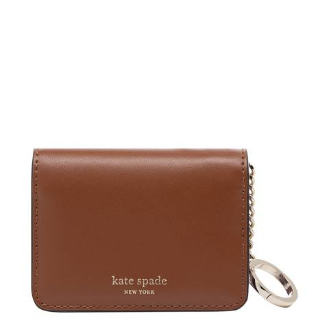 Kate Spade Brown and Lilac Slim Bifold Card Holder