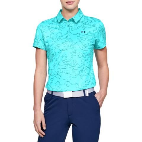 Under Armour Men's Blue UA  Short Sleeve Polo Shirt