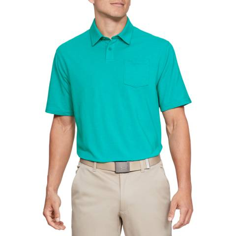 Under Armour Green Charged Cotton Scramble Polo