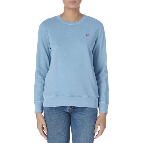 Crew Clothing Light Blue Washed Crew Neck Sweat