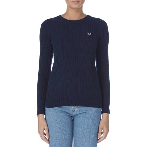 Crew Clothing Navy Cotton Cable Crew Jumper