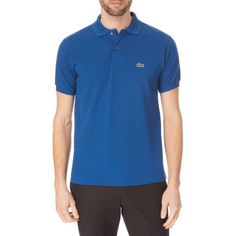 Lacoste Mid Blue Classic Cotton Polo Shirt