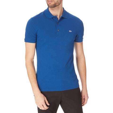Lacoste Mid Blue Slim Cotton Stretch Polo Shirt