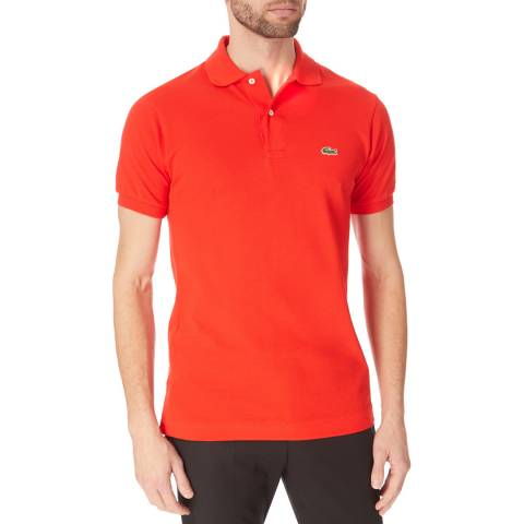 Lacoste Red Classic Cotton Polo Shirt