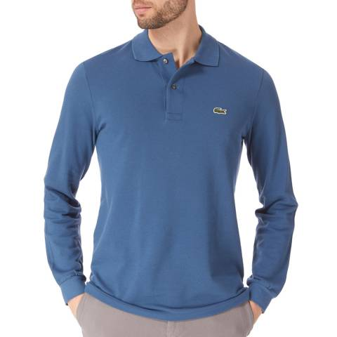 Lacoste Airforce Blue Long Sleeve Classic Cotton Polo Shirt
