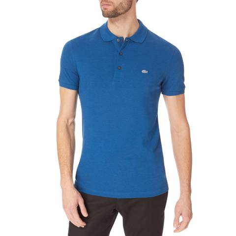 Lacoste Blue Marl Slim Cotton Stretch Polo Shirt