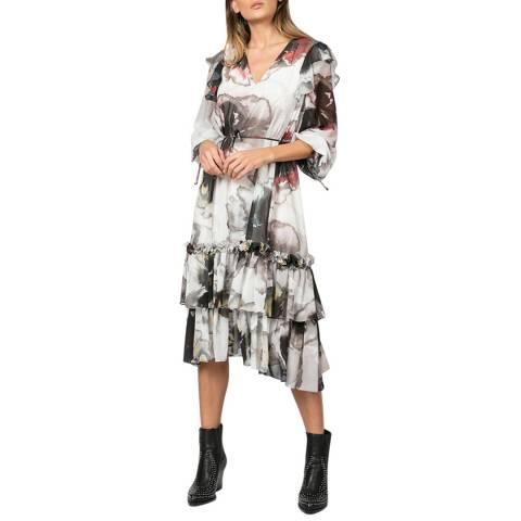 Religion White/Multi Love Print Thrill Dress
