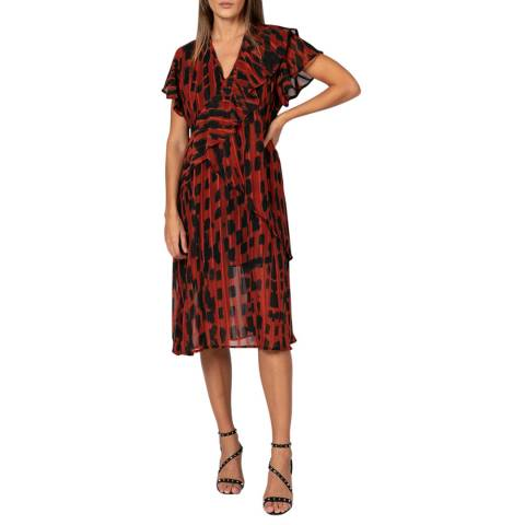 Religion Red/Multi Form Print Ace Dress